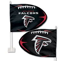 Picture of Atlanta Falcons Shaped Car Flag