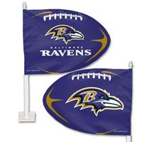 Picture of Baltimore Ravens Shaped Car Flag