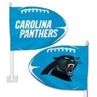 Picture of Carolina Panthers Shaped Car Flag
