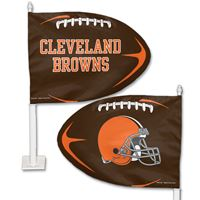 Picture of Cleveland Browns Shaped Car Flag
