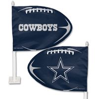 Picture of Dallas Cowboys Shaped Car Flag