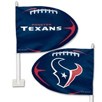 Picture of Houston Texans Shaped Car Flag
