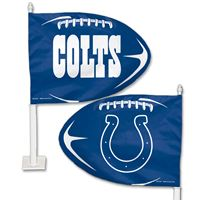 Picture of Indianapolis Colts Shaped Car Flag