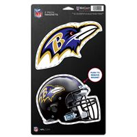 "Picture of Baltimore Ravens 2 Pack Magnets 5"" x 9"""