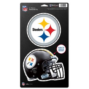 """Picture of Pittsburgh Steelers 2 Pack Magnets 5"""" x 9"""""""