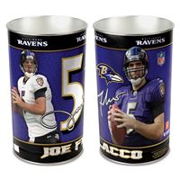 "Picture of Baltimore Ravens Wastebasket - tapered 15""H"