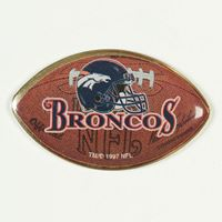 Picture of Denver Broncos Brass Pin Clamshell