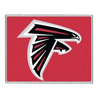"Picture of Atlanta Falcons Glass Cutting Board 7"" x 9"""