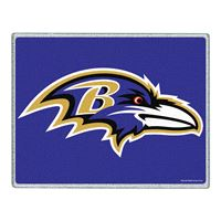 "Picture of Baltimore Ravens Glass Cutting Board 7"" x 9"""