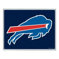 "Picture of Buffalo Bills Glass Cutting Board 7"" x 9"""