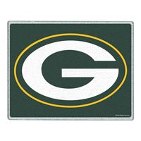 """Picture of Green Bay Packers Glass Cutting Board 7"""" x 9"""""""
