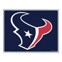 """Picture of Houston Texans Glass Cutting Board 7"""" x 9"""""""