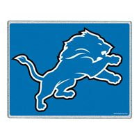 "Picture of Detroit Lions Glass Cutting Board 7"" x 9"""