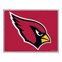 "Picture of Arizona Cardinals Glass Cutting Board 7"" x 9"""