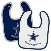 Picture of Dallas Cowboys Snap Baby Bib Two Pack