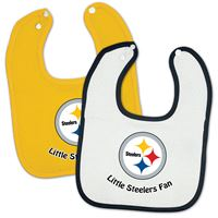 Picture of Pittsburgh Steelers Snap Baby Bib Two Pack