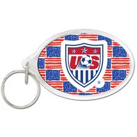 Picture of US Soccer - National Team Acrylic Key Ring Carded Oval
