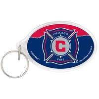 Picture of Chicago Fire Acrylic Key Ring Carded Oval