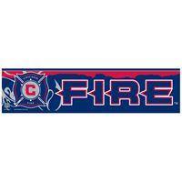 "Picture of Chicago Fire Bumper Strip 3"" x 12"""