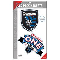 "Picture of San Jose Earthquakes 2 Pack Magnets 5"" x 9"""