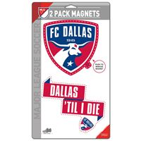 "Picture of FC Dallas 2 Pack Magnets 5"" x 9"""
