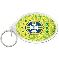 Picture of CBF Brasil Acrylic Key Ring Carded Oval