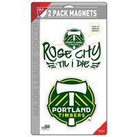 "Picture of Portland Timbers 2 Pack Magnets 5"" x 9"""