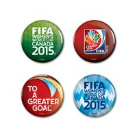 "Picture of Women's World Cup Generic Button 4 Pack 1 1/4"" Rnd"