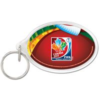 Picture of Women's World Cup Generic Acrylic Key Ring Carded Oval