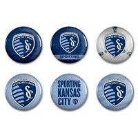 """Picture of Sporting Kansas City Button 6 Pack 2"""" Round"""