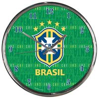Picture of CBF Brasil Chrome Clock