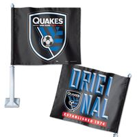 "Picture of San Jose Earthquakes Car Flag 1175"" x 14"""