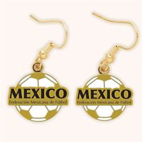 Picture of Mexican National Soccer Earrings Clamshell