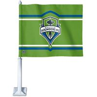 """Picture of Seattle Sounders Car Flag 1175"""" x 14"""""""