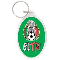 Picture of Mexican National Soccer Acrylic Key Ring Oval