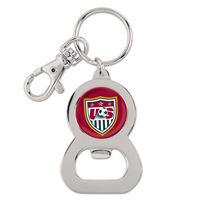 Picture of US Soccer - National Team Bottle Opener Key Ring Round