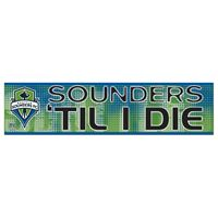 "Picture of Seattle Sounders Bumper Strip 3"" x 12"""
