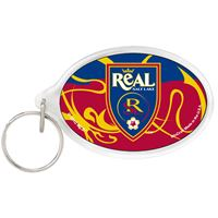 Picture of Real Salt Lake Acrylic Key Ring Carded Oval