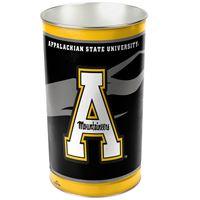 """Picture of Appalachian State University Wastebasket - tapered 15""""H"""