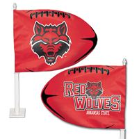 Picture of Arkansas State University Shaped Car Flag
