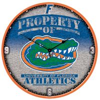 "Picture of Florida, University of Plaque HD Clock 18"" Dia"