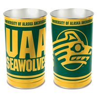 """Picture of Alaska - Anchorage, University of Wastebasket - tapered 15""""H"""