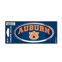 "Picture of Auburn University Chrome Decal 3"" x 7"""