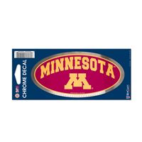 "Picture of Minnesota, University of Chrome Decal 3"" x 7"""