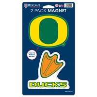"""Picture of Oregon, University of 2 Pack Magnets 5"""" x 9"""""""