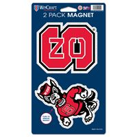 """Picture of North Carolina State University 2 Pack Magnets 5"""" x 9"""""""