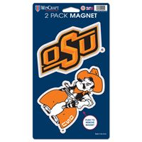 """Picture of Oklahoma State University 2 Pack Magnets 5"""" x 9"""""""