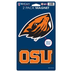 """Picture of Oregon State University 2 Pack Magnets 5"""" x 9"""""""