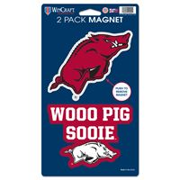 """Picture of Arkansas, University of 2 Pack Magnets 5"""" x 9"""""""