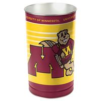 """Picture of Minnesota, University of Wastebasket - tapered 15""""H"""